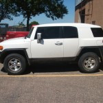 Toyota FJ Cruiser tinted with 3M 15% to match factory rears.