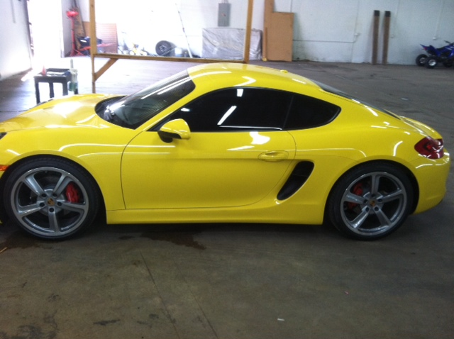 Installed a complete front end clear paint protection package on this remarkable car!